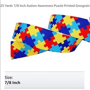 """Other - Autism Awareness Grosgrain Ribbon; 7/8""""W, 24 Yards"""